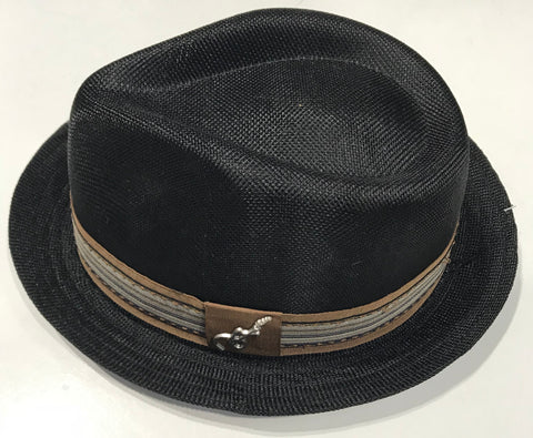 Carlos Santana Black Fedora Gros Grain with Band & Guitar Pin SAN 359 Famous Rock Shop Newcastle NSW Australia