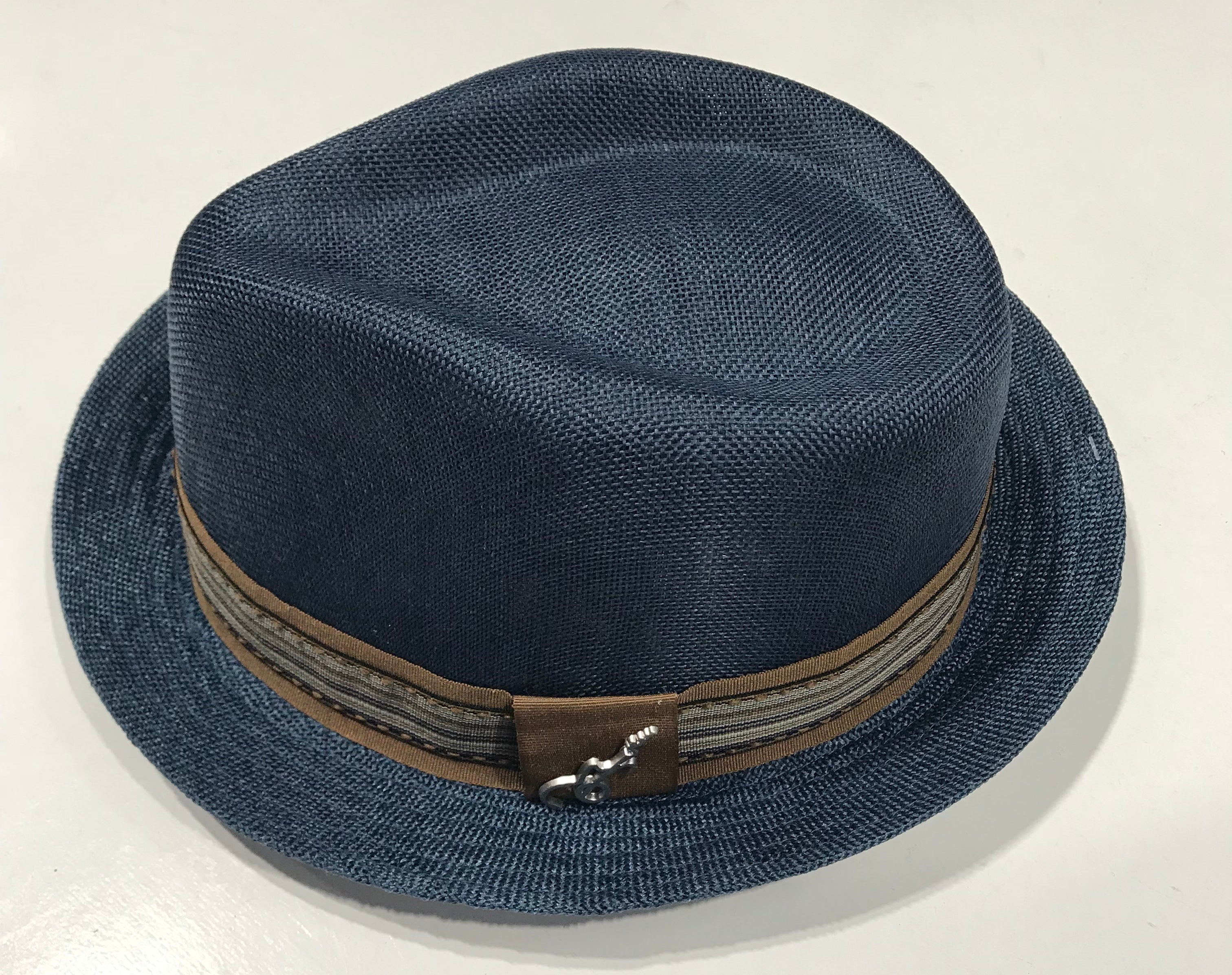 f38bc544877b Carlos Santana Blue Fedora Gros Grain with Band & Guitar Pin SAN 359 Famous  Rock Shop