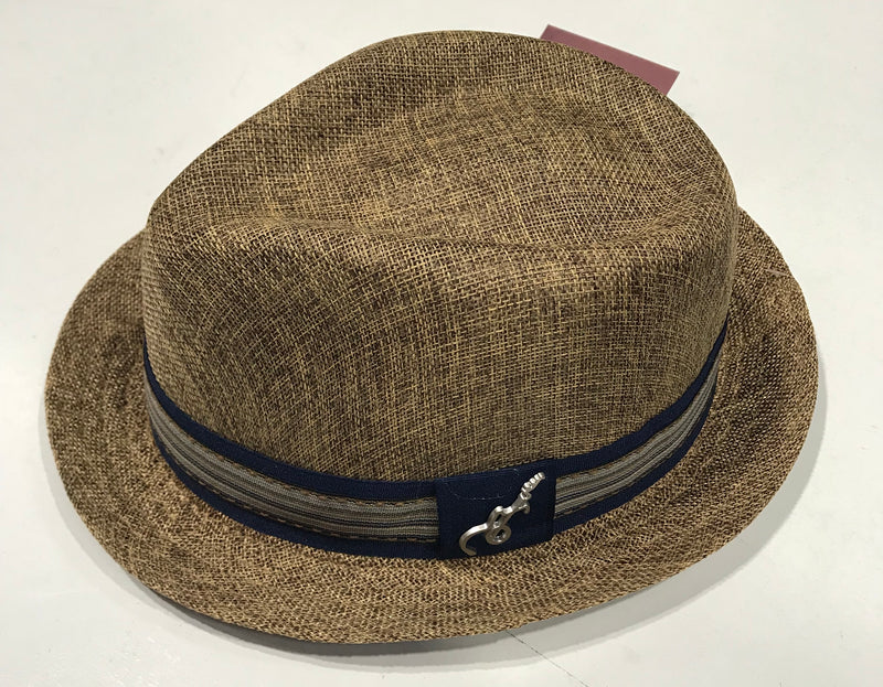 Carlos Santana Brown Fedora Gros Grain with Band & Guitar Pin SAN 359 Famous Rock Shop Newcastle NSW Australia