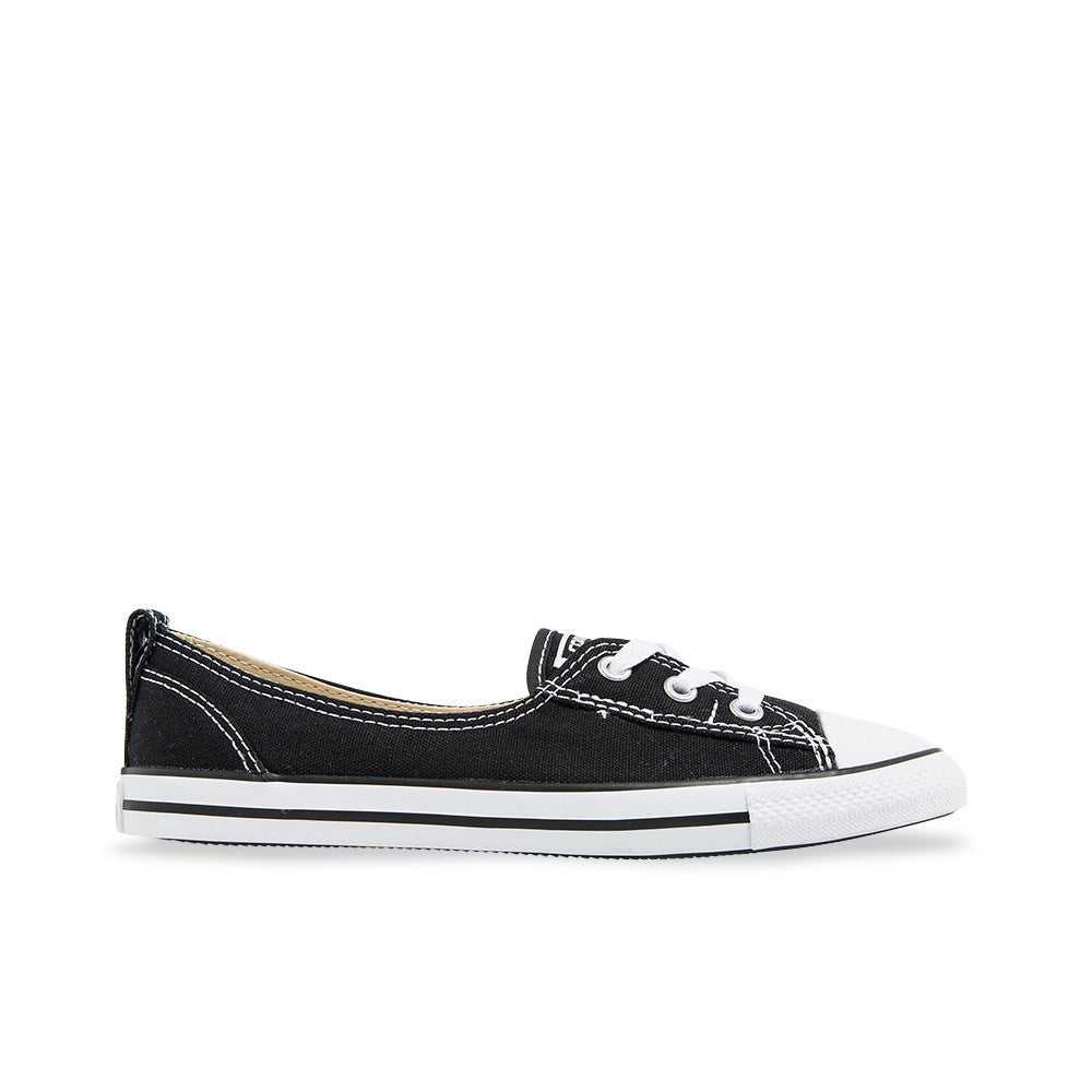 3b28973bbad7 Converse Chuck Taylor All Star Ballet Lace Slip-On Flats Canvas Black White  547162C Women s ...