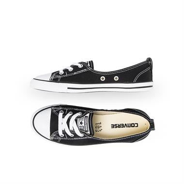 d1939fb3dffc2f ... Converse Chuck Taylor All Star Ballet Lace Slip-On Flats Canvas Black  White 547162C Women s ...