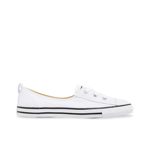 Converse Chuck Taylor All Star Ballet Lace Slip-On Flats Canvas White