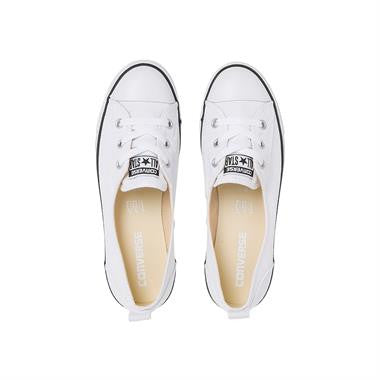 c6c04cfdb41ed5 ... Converse Chuck Taylor All Star Ballet Lace Slip-On Flats Canvas White  Famous Rock Shop ...
