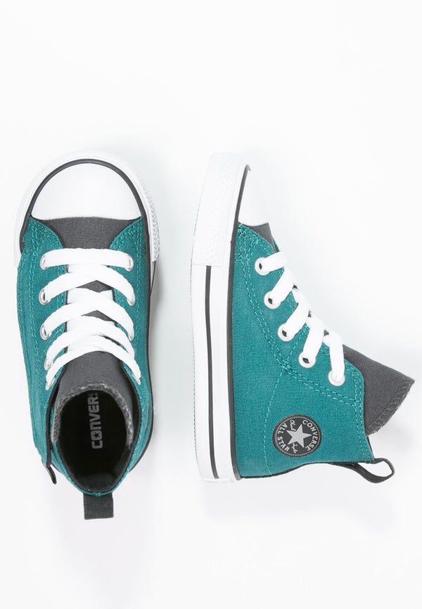 Converse Infants Hi Chuck Taylor All Star Simple Step - Sneaker high - rebel teal storm wind black