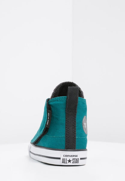 Converse Infants Hi Chuck Taylor All Star Simple Step Sneaker high rebel teal storm wind black