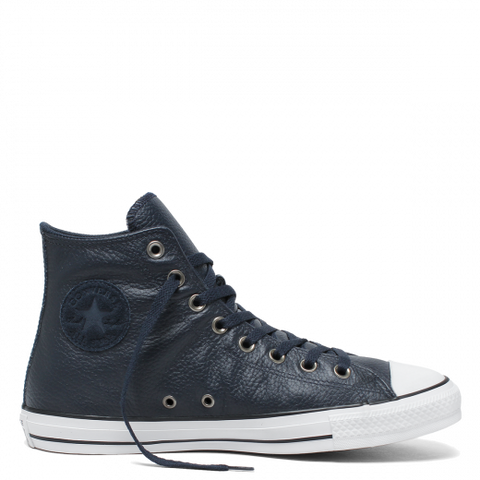 Converse CTAS Hi Leather Dark Obsidian White and Black 165189C Seasonal Leathers. Undisputed since 1917, the Chuck Taylor All Star High Top shoe is the definitive sneaker. You already know the iconic details—that diamond outsole, and of course, the Chuck Taylor ankle patch. Premium leather outfits the upper for a seaso Famous Rock Shop Newcastle 2300 NSW Australia