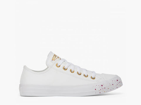 Converse CTAS Speckled OX White Rose Gold Maroon 566728C Famous Rock Shop Newcastle, 2300 NSW. Australia. 1