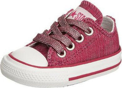 Converse Infant CT Sparkle OX Fuschsia White