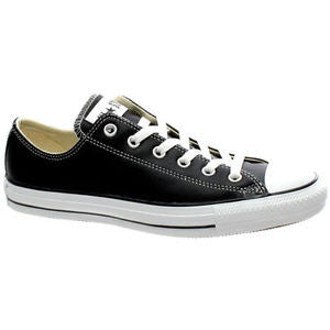 Converse Ox Black / White Leather 132174C