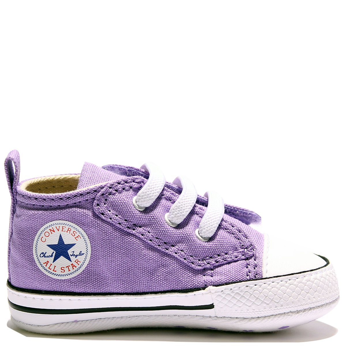 8c219d8bf636a2 Converse Crib CT First Star Easy Frozen Lilac Black White Infant 854007  Famous Rock Shop.