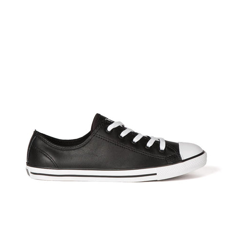 Converse Dainty Black/ White Leather Ox 537107C