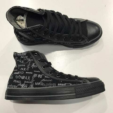 Converse John Lennon All Star Peace HI Black Grey 1Q088