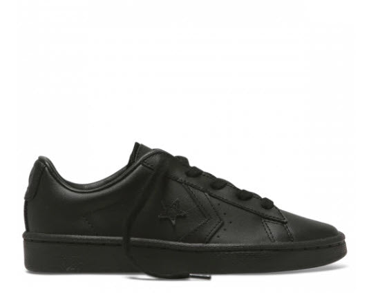 Converse Junior 76 Ox Black Leather Youth