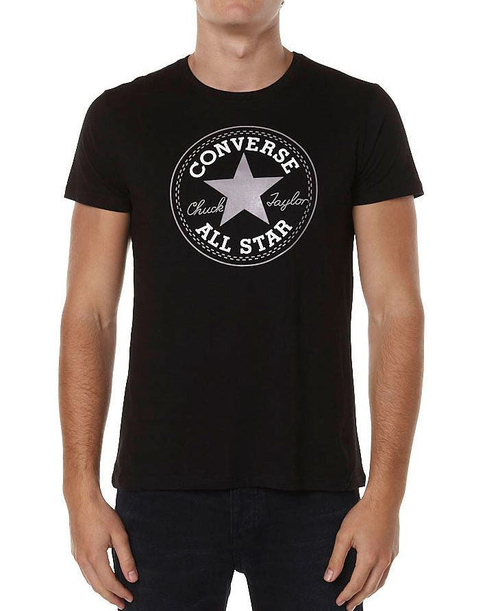 Famous Rock Shop Newcastle. Converse Chuck Patch Men's T-Shirt M10357 Black. Men's Sizing Small - 2XLarge.  Famous Rock Shop Newcastle 2300 NSW Australia