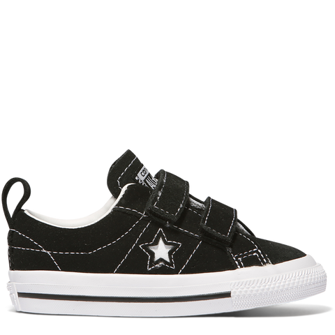 Converse Toddler One Star 2V OX Black White 756131C