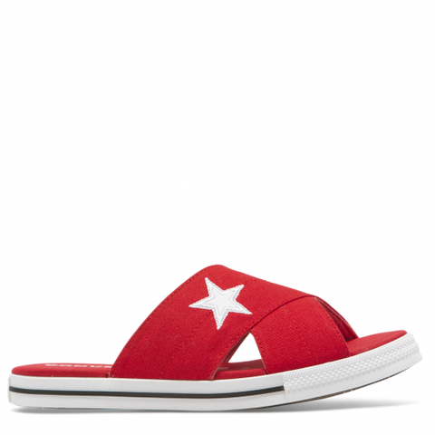 Converse One Star Slide Slip Enamel Red White Black 565528C Famous Rock Shop Newcastle 2300 NSW Australia