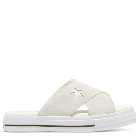 Converse Women's One Star Sandal Slip Egret and White 564144 Famous Rock Shop Newcastle 2300 NSW Australia