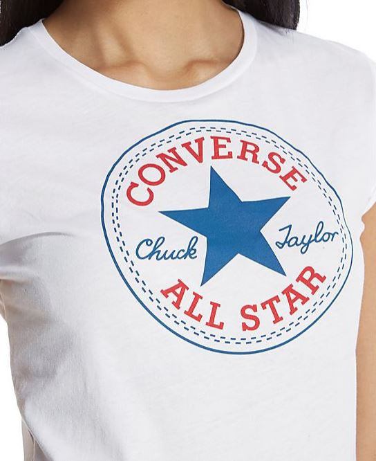 Converse Women's Patch T-Shirt White W10291