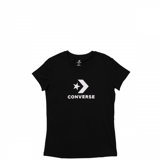 Converse Women's Star Chevron Short Sleeve T Shirt Black 10009152-A03 Famous Rock Shop Newcastle 2300 NSW Australia