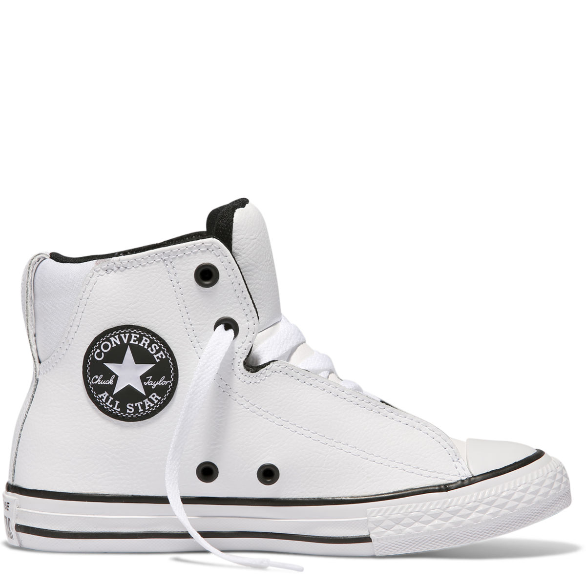 582ddcbc8fa983 Chuck Taylor Youth All Star Legit Leather High Top White 655997C Famous  Rock Shop 517 Hunter ...