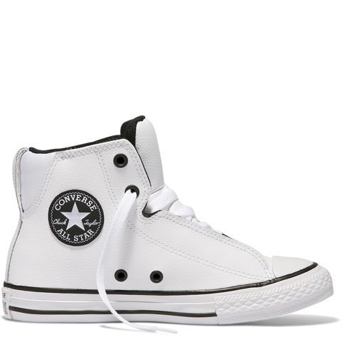 Chuck Taylor Youth All Star Legit Leather High Top White 655997C Famous Rock Shop 517 Hunter Street Newcastle 2300. Australia