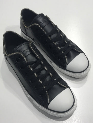 Converse Zipper OX Black Leather 113942