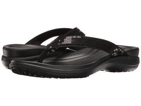 Crocs Capri V Sequin Flip Black