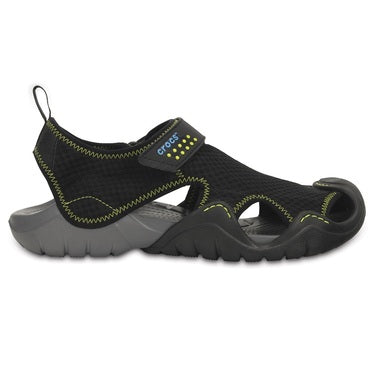 Crocs Men's Swiftwater Sandal Black / Charcoal