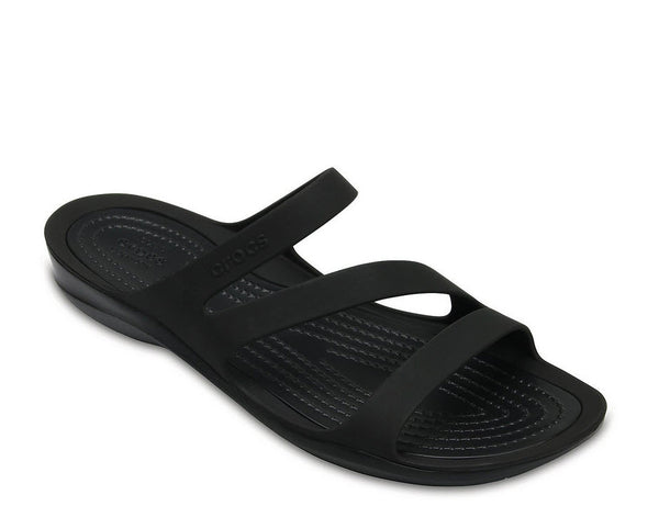 Crocs Women's Swiftwater Sandal Black / Black Item 203998. Famous Rock Shop Newcastle, 2300 NSW. Australia.