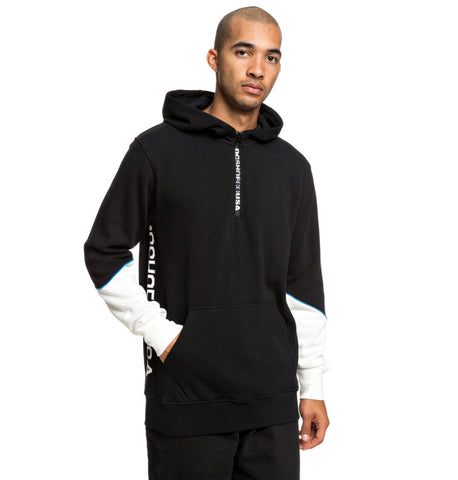 DC Men's Glynroad Half-Zip Hoodie Black EDYFT03430 Famous Rock Shop Newcastle, 2300 NSW. Australia. 1