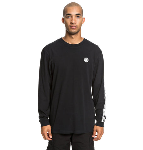 DC Men's Wordarm Taped Long Sleeve T-Shirt Black UDYZ03587 Famous Rock Shop Newcastle, 2300 NSW. Australia. 1