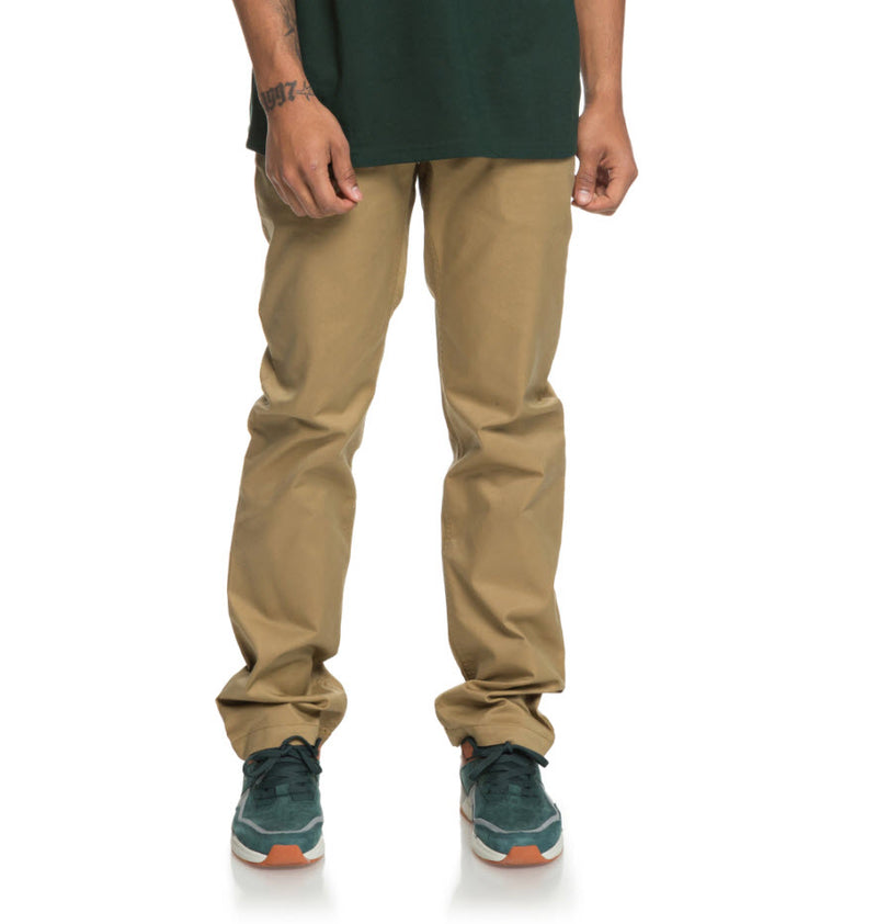DC Men's Worker Straight Chino Pant Khaki EDYNP03136 Famous Rock Shop Newcatle, 2300 NSW. Australia. 1