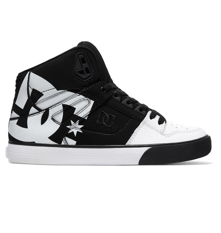 DC Pure High Top WC SP Shoes Black Black White ADYS400050 Famous Rock Shop Newcastle, 2300 NSW. Australia.