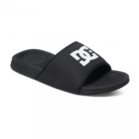 DC Shoes Bolsa Sandals Black Men's Slip On Sliders ADYL100026  Famous Rock Shop Newcastle 2300 NSW Australia
