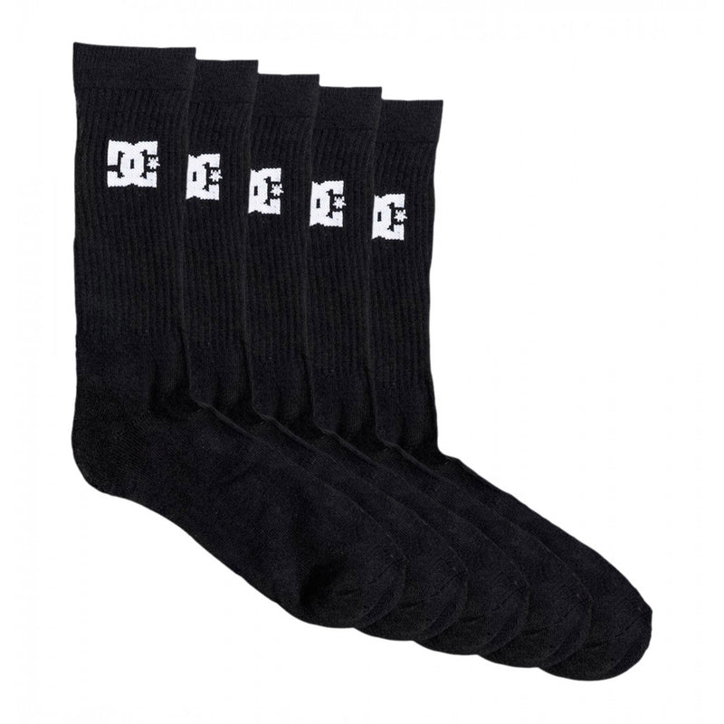 DC Socks Crew 5 Pair Pack Black EDYAA03150  Famous Rock Shop Newcastle NSW Australia