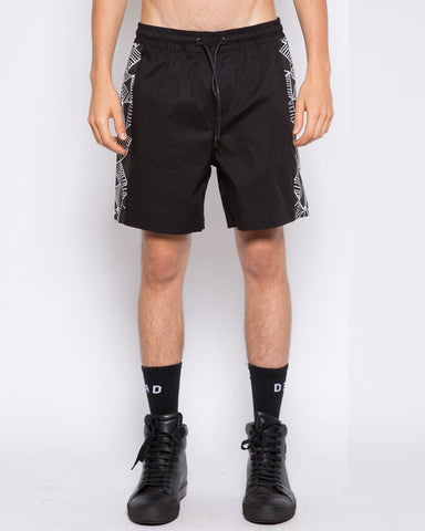 DEAD Studios Web Boardshort Black White
