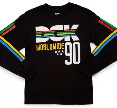 DGK 90'S LS Tee Black  Famous Rock Shop 517 Hunter Street Newcastle 2300 NSW Australia