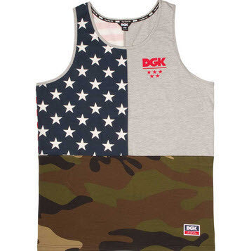 DGK Americana Custom Tank Top DTT-246 ATH HEATHER Famous Rock Shop Newcastle 2300 NSW Australia