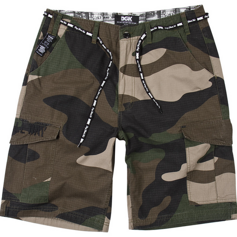 DGK Cargo Shorts - Big Woods Camo