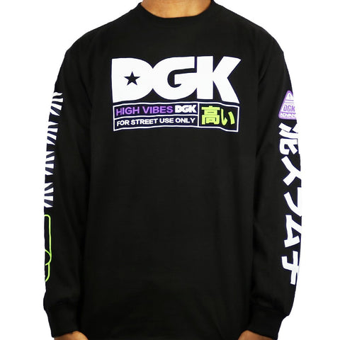DGK High Vibes LS Tee White  Famous Rock Shop 517 Hunter Street Newcastle 2300 NSW Australia