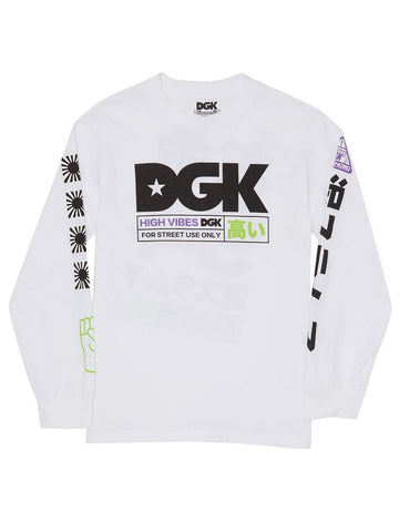 DGK High Vibes LS Tee White