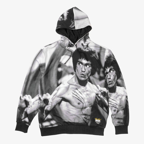 DGK x Bruce Lee Scratch Sublimated Hooded Fleece CFP-1036 Famous Rock Shop Newcastle, 2300 NSW. Australia. 1