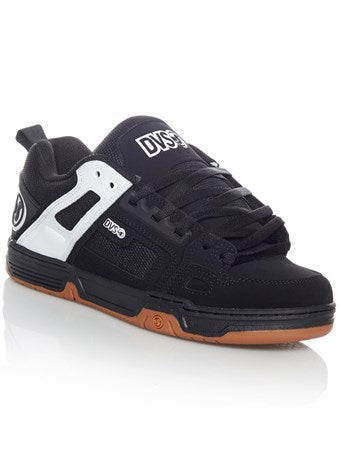 DVS Shoe Comanche Blk Wht Leather Famous Rock Shop Newcastle NSW Australia