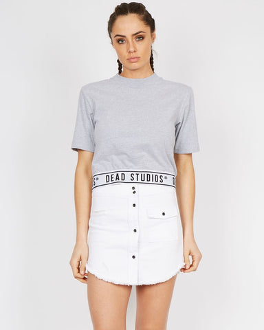 Dead Team Band Crop Grey Marle SS16005  Famous Rock Shop 517 Hunter Street Newcastle 2300 NSW Australia
