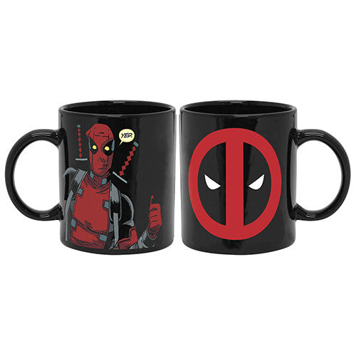 Deadpool Eyes Black Coffee Mug
