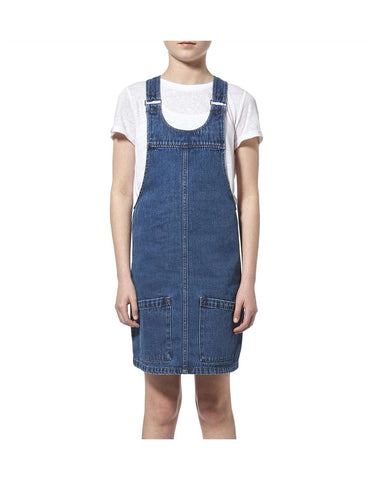 Riders Jnr Denim Pinafore Dark Indigo R/580024/734