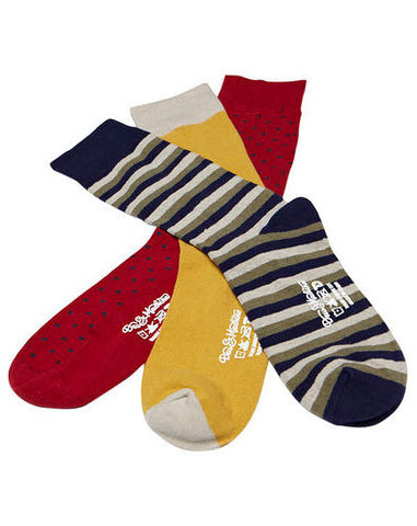 Deus Ex Machina 3 Pack Socks Multi DMP27193