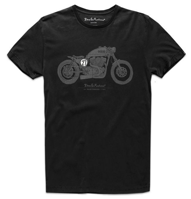 Deus Bald Terrier V-Twin Tee D1808 Black  Famous Rock Shop Newcastle 2300 NSW Australia