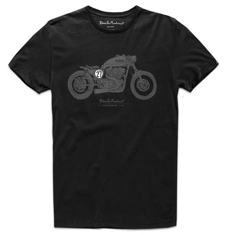Deus Bald Terrier V-Twin Tee Black D1808