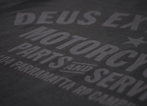 Deus Ex Machina Bald Terrier V-Twin T-Shirt Washed Black DMP31258J Famous Rock Shop Newcastle 2300 NSW Australia